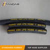 High Pressure Flexible Hydraulic Rubber LPG propane flex gas Hose and fittings