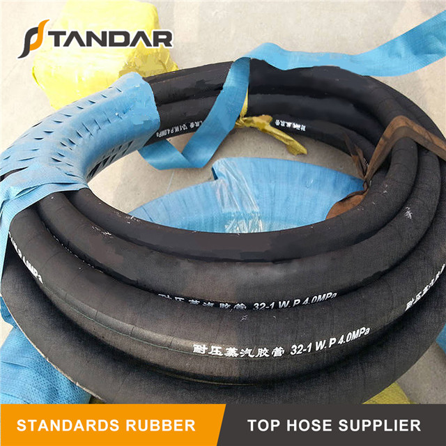 High Pressure steel Wire reinforced flexible Braided RT1 Rubber Steam Hose pipe