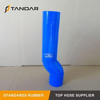 Bent high pressure Nylon Braided reinforced auto Silicone Rubber Hose
