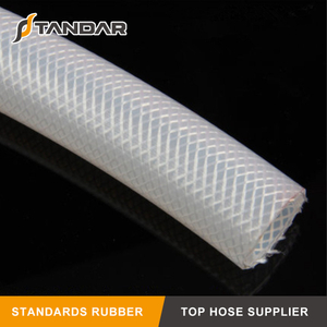 High Pressure clear soft Flexible Fabric Braided reinforced food grade Silicone rubber tubing