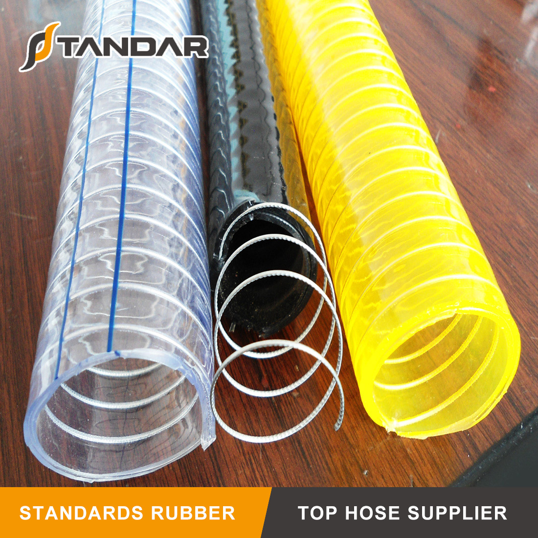PVC Anti-Static Steel Wire Braided Polyester Reinforced Hose