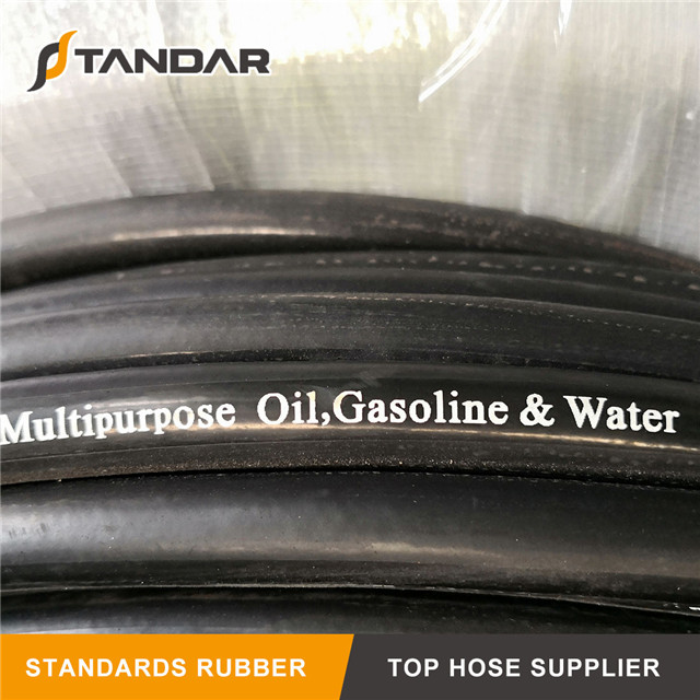 EN853 2SN High Pressure Wire Braid Rubber Hot Oil Hose