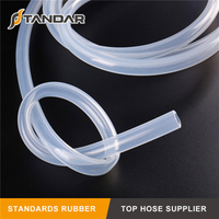 FDA standard high temp clear soft beverage Grade Silicone vacuum Hose