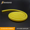Yellow flexible thin wall platinum cured Food Grade Silicone Rubber Pipe