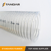 High Pressure clear soft platinum cured thin wall FDA SS wire Reinforced food grade Silicone tubing