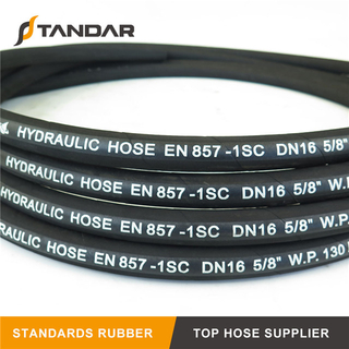 EN857 1SC Stainless Steel Wire Braided Reinforced Hydraulic Rubber Hose