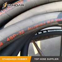 Wire Spiral High Pressure EN856 4SP Hydraulic Hose