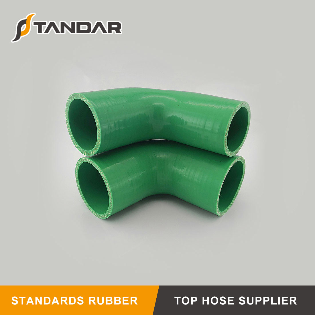 Flexible high Pressure auto Nylon Braided reinforced Elbow Silicone Hose