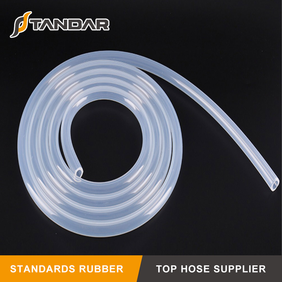 Low Pressure thin wall soft clear platinum cured Medical Grade Silicone tubing