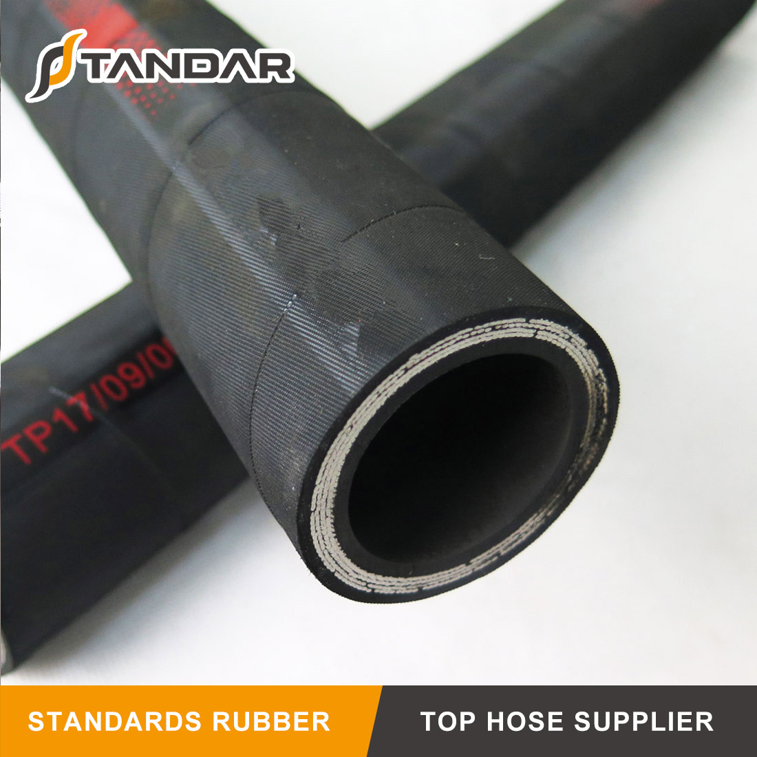EN 856 4SH High Pressure Flexible Stainless Steel Wire Spiral Reinforeced Braided Rubber Hydraulic Hose