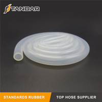 low temperature clear flexible thin wall Medical Grade Silicone Vacuum tubing