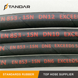 EN 853 1SN High Pressure Wire Braid Reinforced Hydraulic Hose