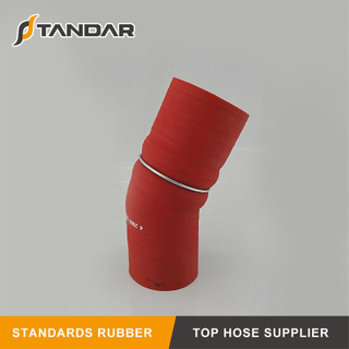 High Temperature 4-Ply Polyester Reinforced Reducer Silicone Hump Hose With Wire